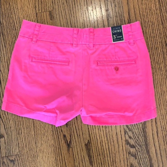 J. Crew Pants - Brand New, J.Crew Chino Shorts, Hot Pink, Size 0